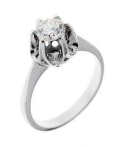 Weißgoldring Diamant