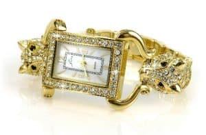 Goldene Luxusuhr